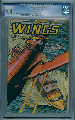WINGS COMICS #80 (April 1947) 9.4 NM (CGC) Off-White Pages