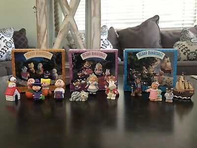 Hallmark Merry Miniatures Mixed Lot of 15 Different Figures