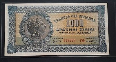 GREECE 1000 DRACHMAI 1941 (Title of picture on illustration)UNC !!!!! RARE !!!!