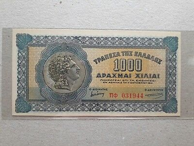 Greece 1000 Drachmai 1941 Unc !!!!!