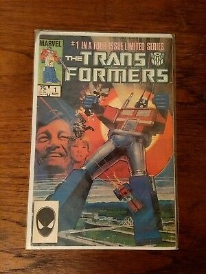 The Transformers (Marvel Comic) 4 Issue Limited Series 1st Editions