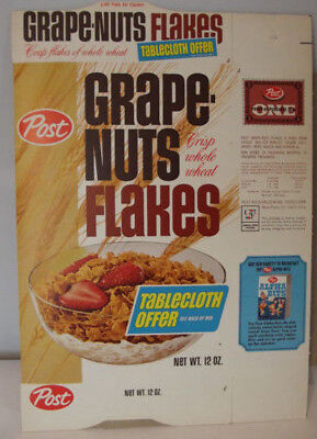 Jim Nabors 1950-60s Post Grape Nuts Flakes NM/M Unused File Box Tablecloth Offer
