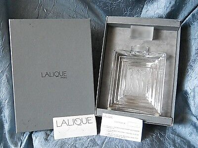 LALIQUE Crystal Duncan Flacon N 2  Perfume Decanter bottle with box 3 nude women