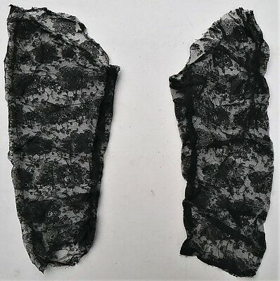 ANTIQUE EDWARDIAN SLEEVES c.1905 CHANTILLY LACE VICTORIAN PRE-WWI ERA