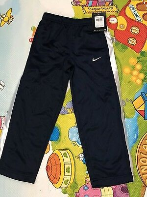 Boy's Nike Pant- Size 5, Navy with white stripes at side panel, New