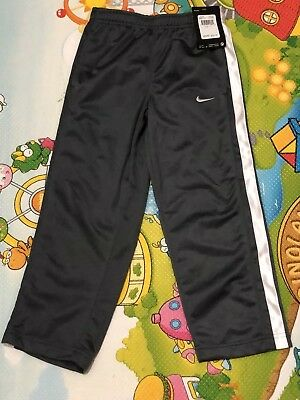 Boy's Nike Pant- Size 5, Dark Gray with white stripes at side panel, New