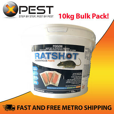 Ratshot Blue Rodenticide Paste 10kg Bucket *Kills Rats and Mice*