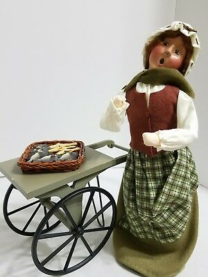 Byers' Choice Carolers 2001 Cries of London Fish Monger with Cart