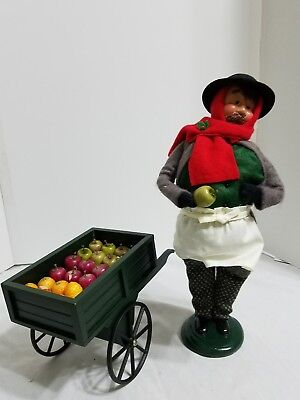 Byers' Choice Carolers 1999 Cries of London Fruit Vendor with Fruit Cart