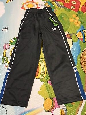 Boy's New Balance Pant- Size 4, Dark Gray with blue stripes at side panel, New