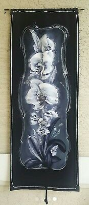 Silk Batik Wall Art Floral Deco Signed
