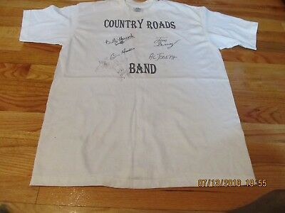 Vintage Circa 1980's Country Roads Band Signed (?) T-Shirt-Xpres Knits U.s.a.