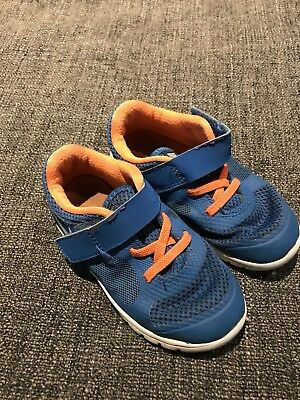 Nike toddler Blue And Orange size 9c kids running shoe