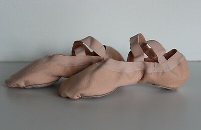 New Bloch Dance Girls Synchrony Split Sole Ballet Flat, Pink, 3B S0625L