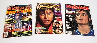 3 Vintage 80s Michael Jackson Magazines plus a clipping pack - Beautiful Photos