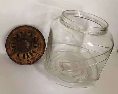 Vintage Curtiss Candy Co Chico's Spanish Peanuts Display Jar 1920's No Stand