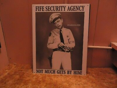 Barney Fife Security Agency Tin Sign With Free Mayberry Photos