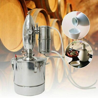 Alcohol Alembic Distiller 30L Wine Making Boiler W/ 304 Stainless Steel Spirit