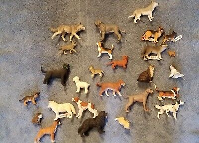 Schleich and Papo lot of dogs and wolves