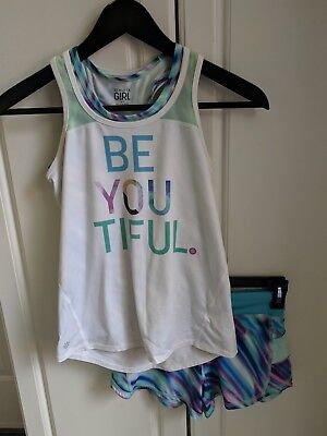 Athleta GIRLS 3 piece set outfit Shorts & 2 Tank Top Size SMALL (7)