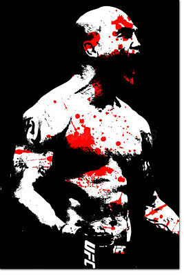 """Robbie Lawler """"ruthless"""" Art Photo Print Poster - 12 X 8 Inch - Ufc"""