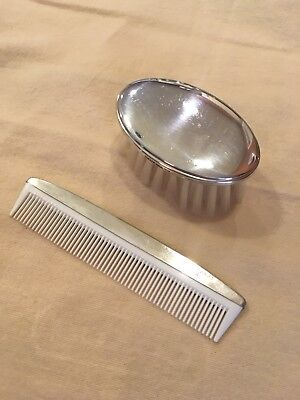 Gotham Sterling Silver Baby Brush & Comb