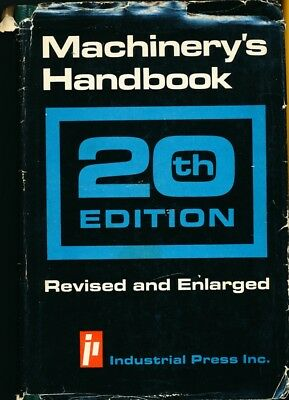 Machinery's Handbook 20th Edition Revised and Enlarged Industrial Press Inc. DJ