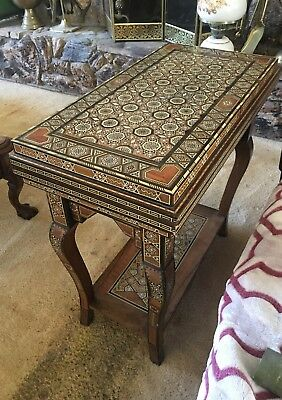 Inlaid game table Chess, Backgammon, Checkers