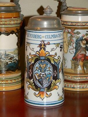 'Faience Coat of Arms' -  1/2 Liter  Mettlach, Mint!