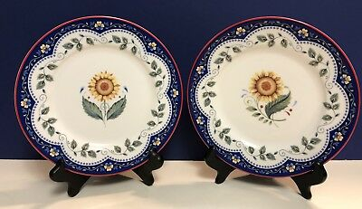 VERA BRADLEY MY HOME Emily- Andrea by SADEK Set Of Four 4 Salad Plates **NEW**