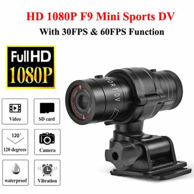 F9 1080P HD DV DVR Waterproof Sports Camera Helmet Bike Action Outdoor Camcorder