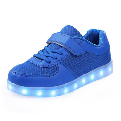 LED Light Up Shoes USB Charging Luminous Causal Sneakers for Boys Girls
