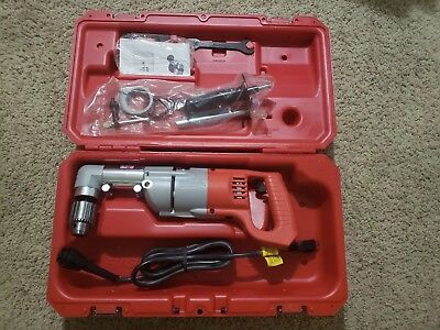 """Milwaukee 3107-6 1/2"""" Drive Right-Angle Corded Drill - New in Case w/Accessories"""
