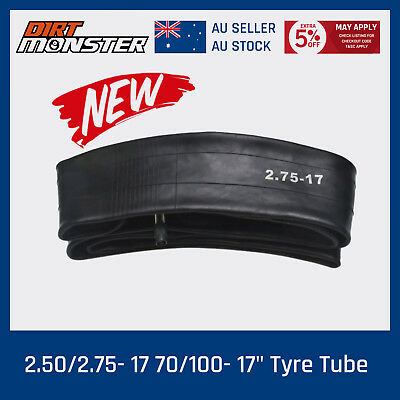 New 17 inch 2.50 / 2.75-17 OR 70/100-17 Pit Dirt Bike Inner Tube 17'' AU Stock
