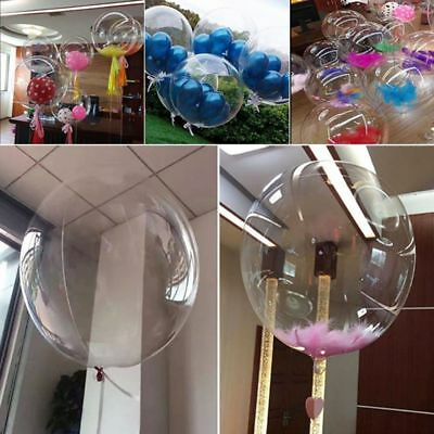"2pcs 10""-36"" Transparent Clear Balloons Birthday Wedding Party Decor NO Wrinkle-"