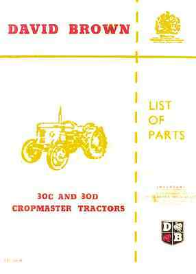 David Brown 30C 30D Chopmaster Tractor Service Parts Manual (0011)