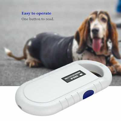 Pro 134.2Khz RFID Reader FDX-B ISO Animal Pet Dog Cat Chip Microchip Scanner
