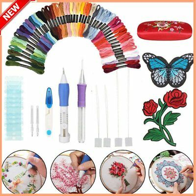 DIY Magic Embroidery Pen Punch Needles Set Sewing Stitch Knitting Craft Tool GD