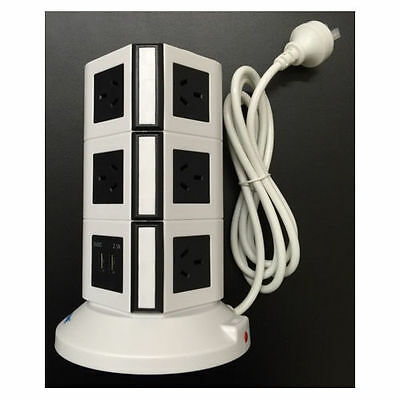 Safemore 3 Level Power Stacker Power Board VPS Origin 3L+ (White/Black) AU STOCK