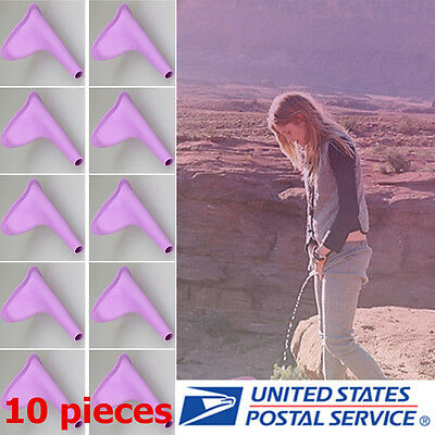 10 X Outdoor Portable Female Urinal Camping Urination Toilet Urine Device Funnel