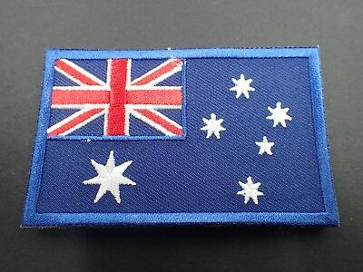 Australian Flag Patch Sew/Stitch On Badge Full Embroidered w/hook and loop 5x8cm
