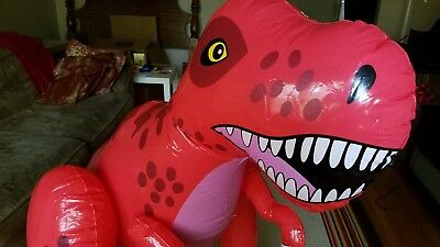Inflatable red dinosaur t-rex