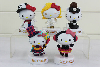 """Hello Kitty 40th Anniversary Edition Large 3"""" Figurines Toysf 5 CollectablesT-3"""