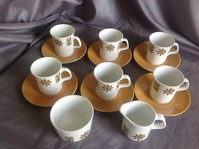 J & G Meakin Studio Vintage 14pc Part Tea Set