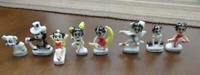 BETTY BOOP Set 8 Mini Figurines Porcelain 1997--KFS FS/TM HEARST
