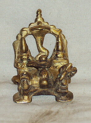 Antique Hindu Traditional Indian Ritual Bronze Rare Family Of God Shiva Rare ##3