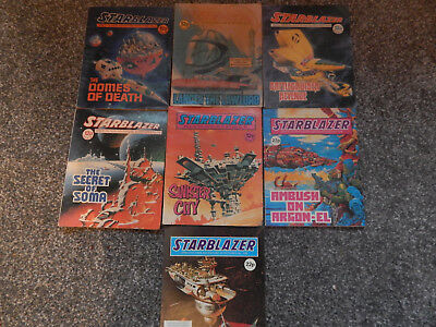 7 old STARBLAZER comics in GOOD con for age NO2 --135 LOT STARBLAZER