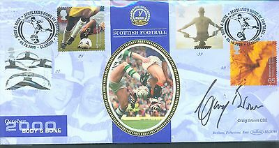 Great Britain 2000 Body and Bone FDC Scottish football signed Craig Brown