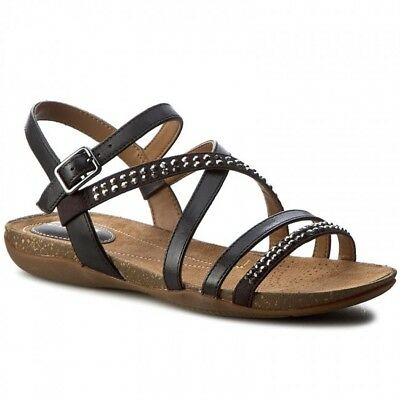 3e85c26dce90b9 CLARKS ALDERLAKE LILY Black Leather Casual Mules Sandals Size UK 6 ...