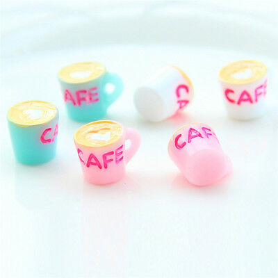 5PCS Resin Coffee Cup Flat Back Cabochons Phone Decoration Crafts Making DIY  X